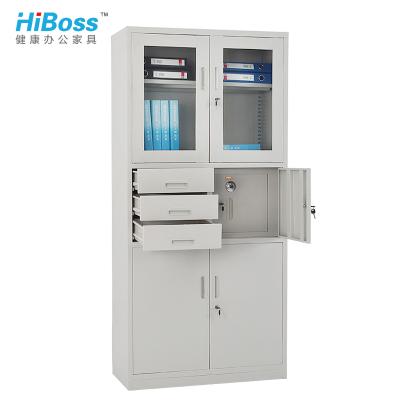 HiBoss 偏三斗內保險柜文件柜鐵皮柜資料柜辦公柜鐵柜子資料檔案柜
