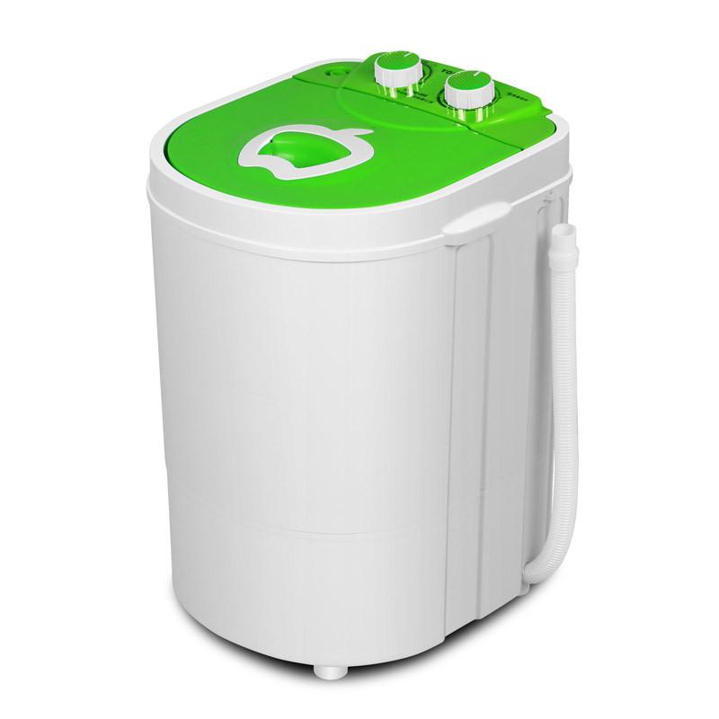 2公斤单桶迷你洗衣机 绿色 带甩干脱水半自动抗菌消毒款婴儿小洗衣机