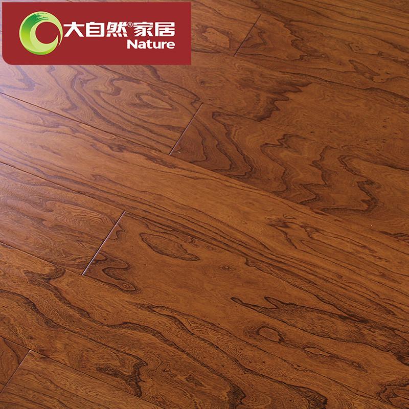 大自然 多层实木复合地板15mm 榆木环保木地板厂家直销bh988m