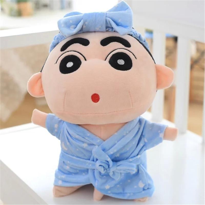 可爱睡衣款蜡笔小新公仔带大象小鸡鸡浴袍毛绒玩具大号抱枕布娃娃节日