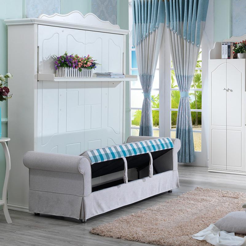 创意欧式田园沙发床 客厅竖翻隐形床壁床折叠床多功能