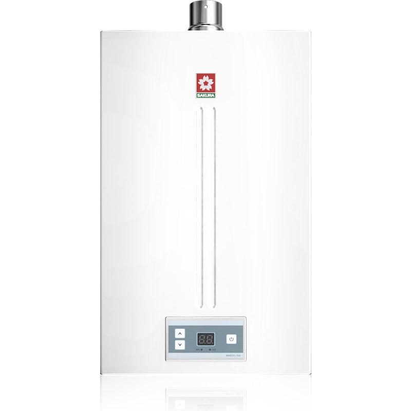 樱花燃气热水器jsq24-k 12升即开即热式智能数码恒温燃气热水器 天然图片