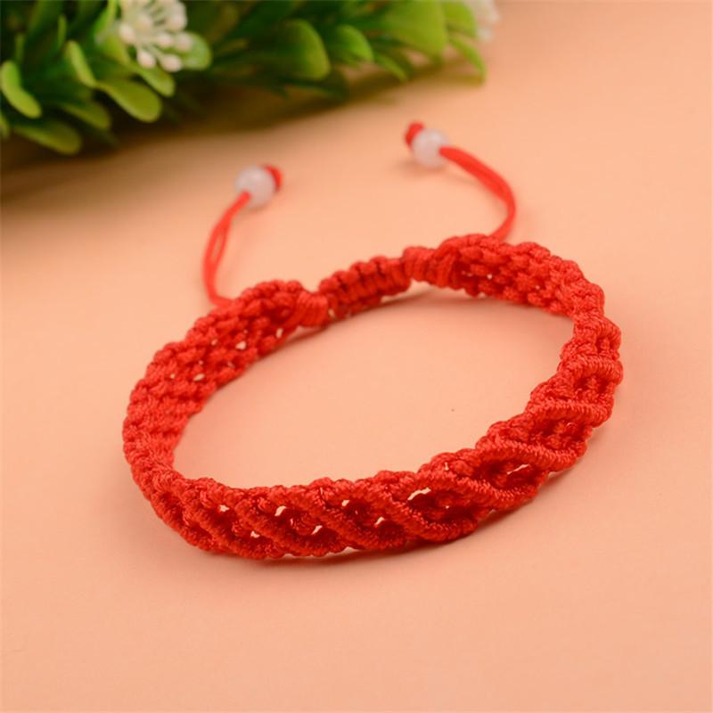 彩丽馆 本命年红绳子手工编织镂空手链学生男女情侣手