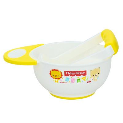 费雪牌(FISHER-PRICE) PP婴儿研磨碗宝宝蔬果泥食物研磨器手动辅食碗料理 FP-8014 黄色300ML