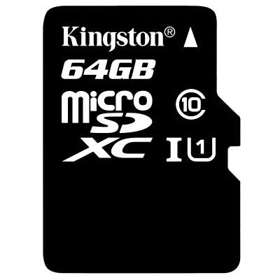 苏宁自营金士顿(Kingston)64GB 80MB/s TF(Micro SD) Class10 UHS-I高速存储卡