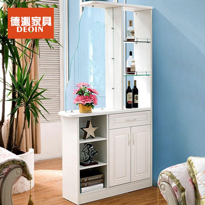 德沁 欧式客厅玄关门厅柜法式板木雕花玻璃门酒柜间厅鞋柜 1080*300*图片