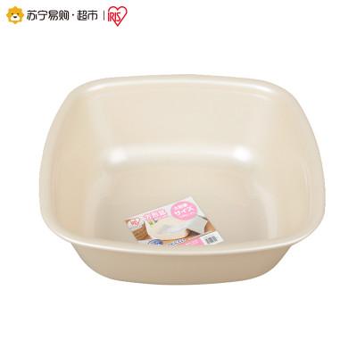 爱丽思(IRIS) 日本家用正方形塑料水盆 洗菜洗水果盆BOK-380