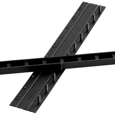 馳鵬(CHI PENG)3mm黑色裝訂夾條100根 可裝訂20 頁塑料壓條 適用于梳式膠圈十孔裝訂夾邊條 手動裝訂器