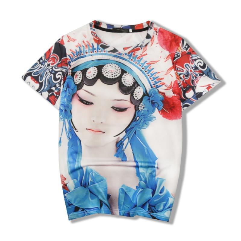 夏季3d创意星空图案个性印花衣服男装修身短袖t恤 情侣装学生班服_5_4