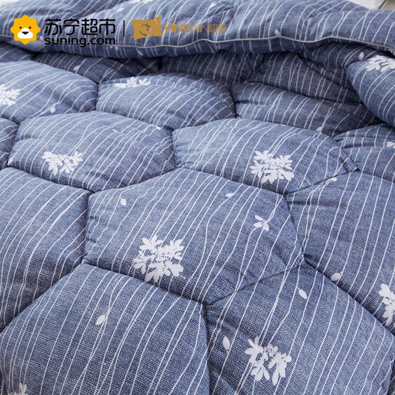 迎馨 床品家纺羽丝绒 印花保暖冬被 爱丽丝 蓝 200*230cm