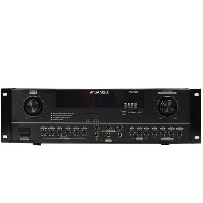 SanSui/山水S6-260家用功放KTV拉卡OK功率放大器家庭卡包音箱功放机好选S6-260新款上架黑色