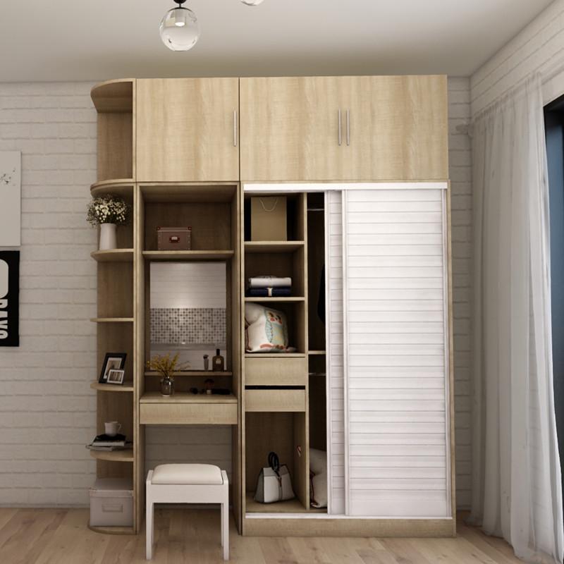 搭瓦屋 北欧简约推拉门衣柜 卧室整体衣柜组合大衣橱移门衣柜 1.