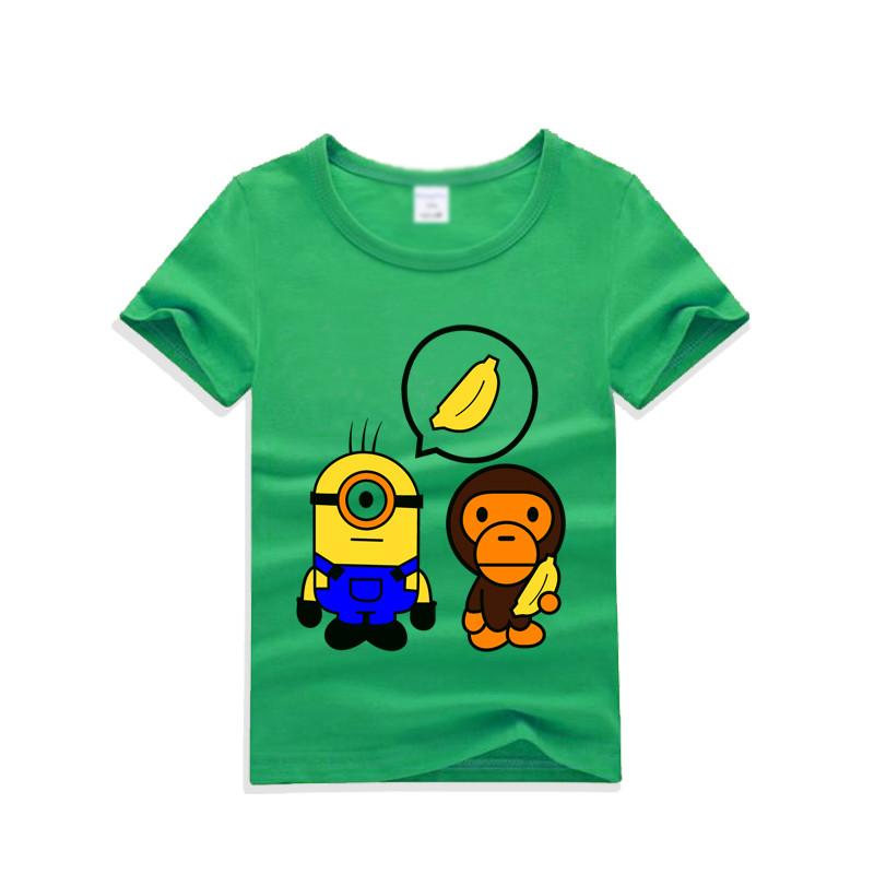 韩版可爱卡通印花儿童短袖t恤上衣2017夏季新款潮圆领图片