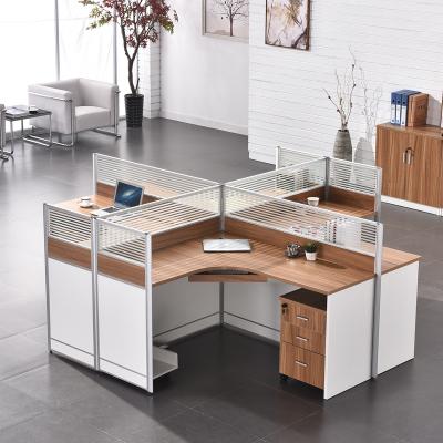 HiBoss 辦公家具辦公桌組合人員工桌屏風工作位卡座職員辦公桌簡約現代
