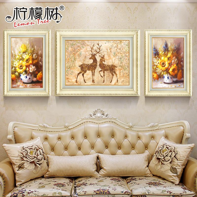 欧式装饰画客厅沙发背景墙装饰简欧风格 家居 墙壁装饰 玄关走廊挂画