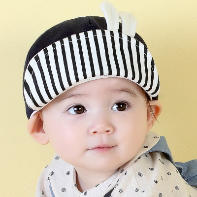milky friends寶寶帽子春秋季MK小兔子造型嬰兒翻邊棉鴨舌帽男女通用兒童棒球帽1-2歲