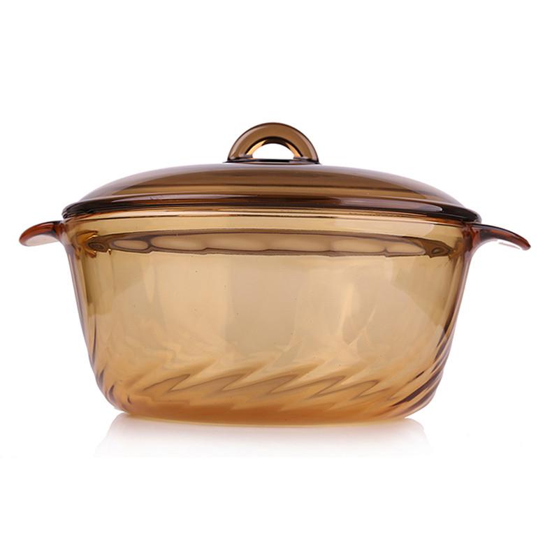 乐美雅 琥珀锅玻璃直烧锅