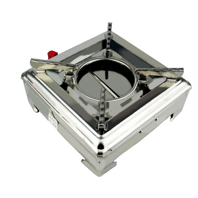 酒精炉_纳丽雅不锈钢便携户外酒精炉液体固体可调火力小火锅炉酒精锅