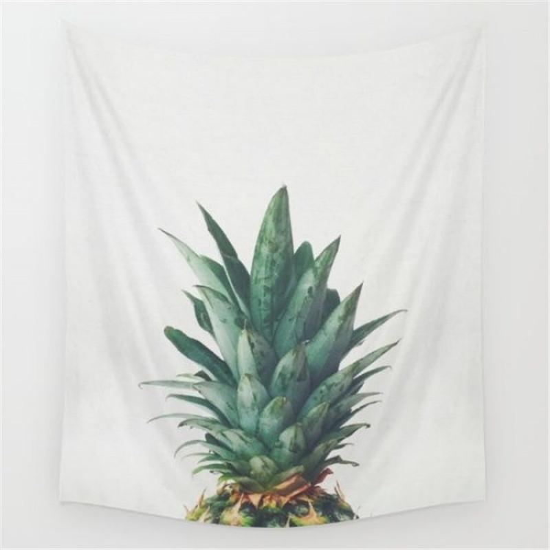 北欧风植物菠萝系列挂布墙面装饰壁饰挂毯壁毯沙滩巾摄影背景布