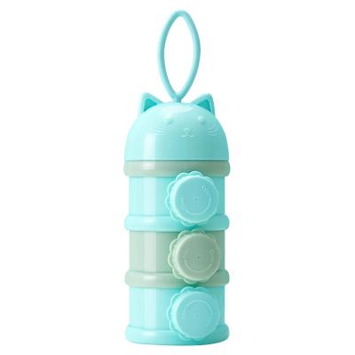 纽因贝NEWYERBAY 三层PP奶粉盒 婴儿便携外出装奶粉罐 大容量储存盒宝宝奶粉格
