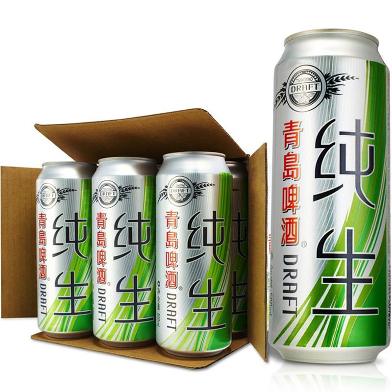 青岛啤酒 tsingtao 纯生啤酒8度 500ml/罐*12听/箱