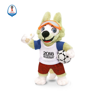 WORLD CUP 2018 18CM毛絨吉祥物101 拼接色