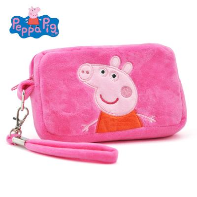 小豬佩奇Peppa Pig毛絨玩具佩佩方形錢包 15*9*3cm