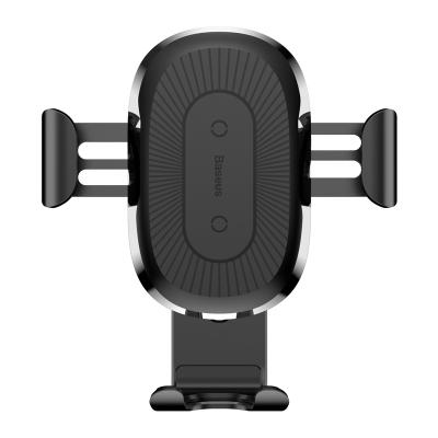 倍思(Baseus)无线充车载手机支架 车载充电器 出风口式导航底座 iPhoneX/8plus/xs黑色