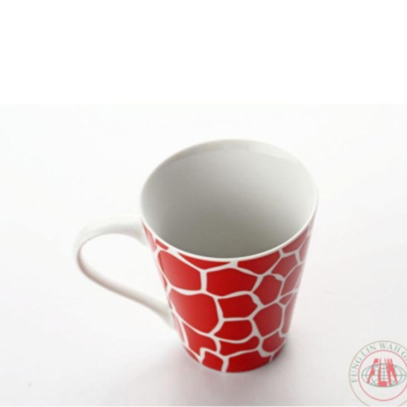长颈鹿花纹水杯 陶瓷杯子 简约杯 牛奶杯 马克杯