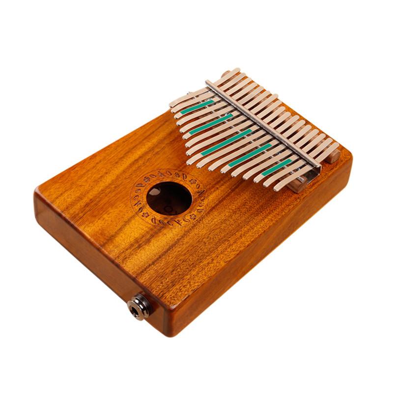 gecko壁虎拇指钢琴便携卡林巴17音相思木电箱款手指琴图片