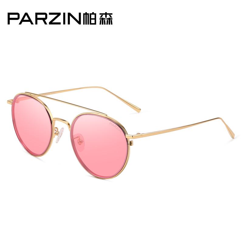 帕森 时尚偏光太阳眼镜 女士迷幻复古个性浅色镜片潮墨镜驾驶镜 8125