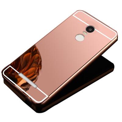 手机套 手机壳电镀镜面金属边框后盖保护套 适用于小米note4/3/5/5s