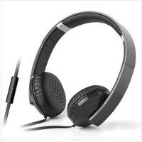 漫步者H750P(黑色) 重低音头戴式音乐游戏耳麦 单插头带麦克风可接打电话手机耳机