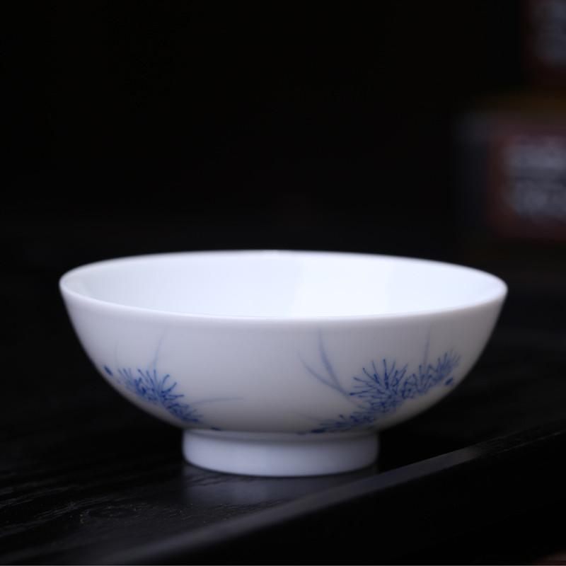 淘瓷缘景德镇手绘青花瓷器茶具普洱杯品茗杯茶杯水杯功夫茶杯茶碗青花