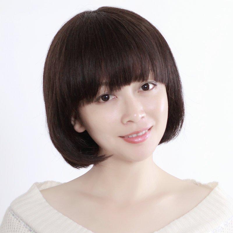 玫瑰雨假发 齐刘海真发短发bobo头 女短发假发套