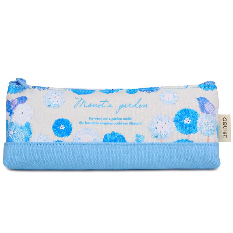 得力笔袋 66660多功能大容量学生文具袋 帆布笔盒可爱