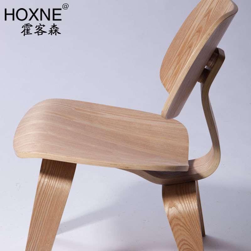 霍客森 伊姆斯38cm曲木椅 弯板木椅 单人餐椅 休闲实木椅 咖啡椅 主推