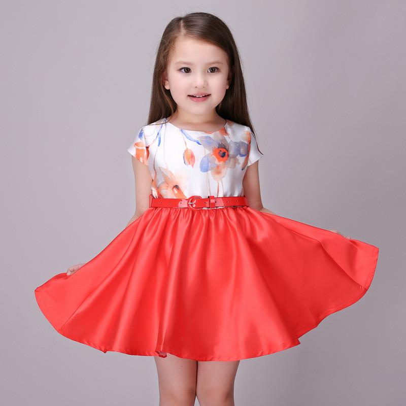 【印花公主裙】童装童裙女童连衣裙 3岁--13岁春夏童装印花儿童公主裙