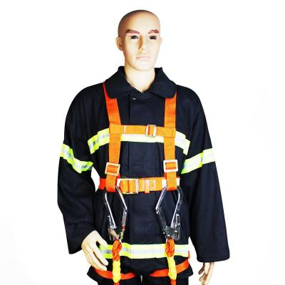 双保险电工安全带 工地高空保险带 全身?;ど踩鄹呖兆饕笛?电工保险 全身超大钩安全带