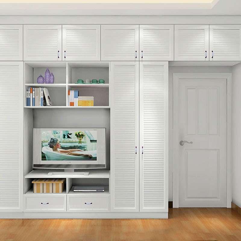 田园电视柜v田园定制书籍隐形衣橱衣柜衣柜衣柜整体设计艺术白色图片