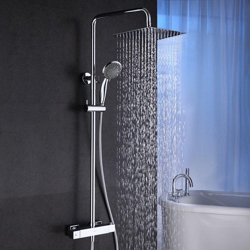 wmda 方形智能温控恒温龙头 恒温花洒淋浴器明装花洒套装明装带升降图片