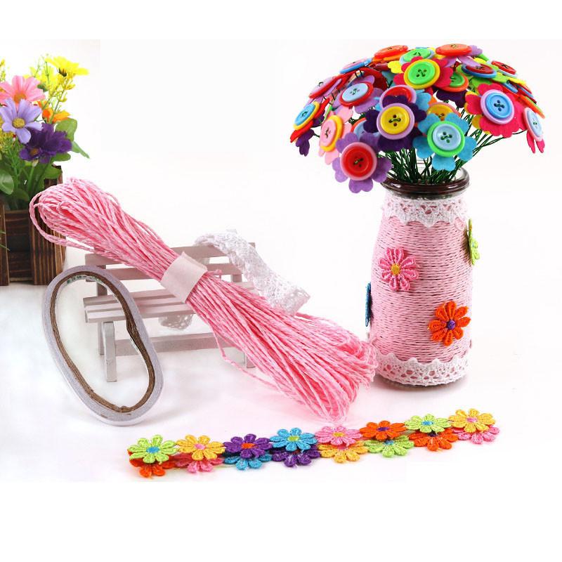 纽扣花束幼儿园宝宝手工diy制作材料包创意益智扣子画送老师礼物 格桑
