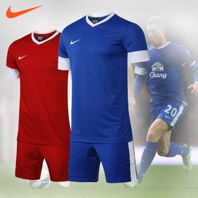 正品耐克足球服套裝男組隊服定制足球衣703208夏季NIKE足球訓練服
