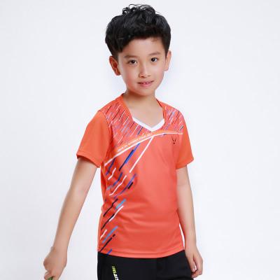 包郵正品羽羽毛球服上衣男女款兒童親子服運動服速干夏短袖訓練比賽羽毛球服