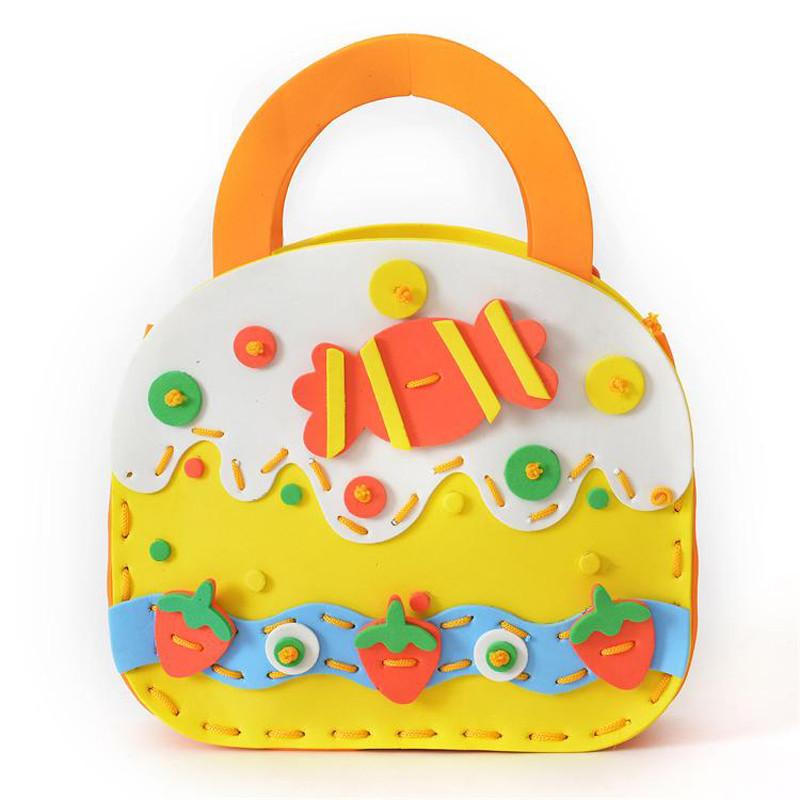 孩派eva儿童手工制作材料 diy手工材料幼儿 h-10手工包 手工包包