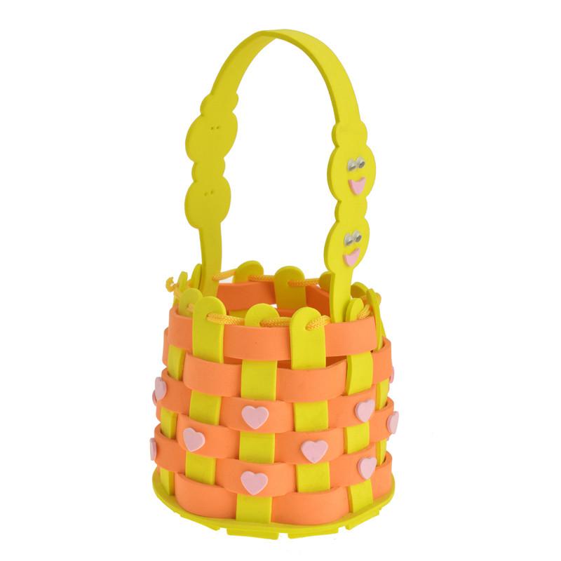 孩派 儿童手工制作材料包缝制 创意幼儿园玩具 eva手工编织篮子