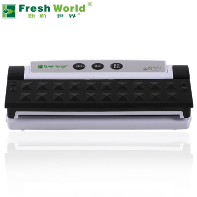 新鮮世界(FreshWorld) 全自動真空密封機 食品保鮮機 包裝機 家用商用封口機 經典黑