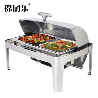 锦厨乐自助餐保温炉酒店早餐炉方形不锈钢餐炉餐具布菲炉翻盖电加热