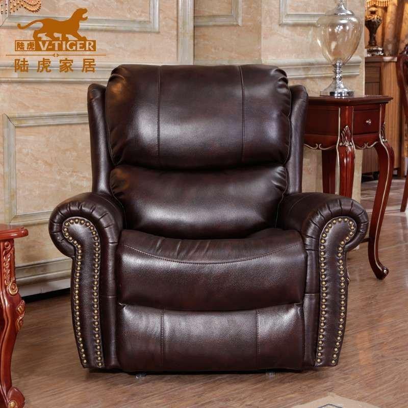 陆虎 家具 欧式古典沙发 头等舱沙发 多功能沙发 单人沙发 呼吸皮沙发