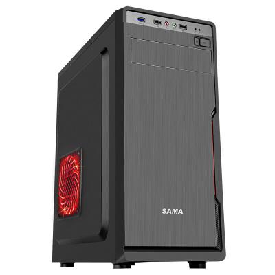 先马(SAMA) 星脉1商务机箱(U3、支持ATX主板固态硬盘长显卡高CPU散热) 黑色 电脑机箱